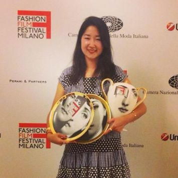 Rhie' with 3  winner of 3 Awards at the Milan Fashion Film Festival