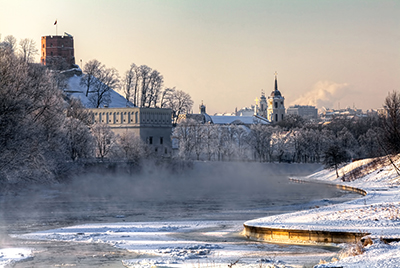 Vilnius sotto la neve low