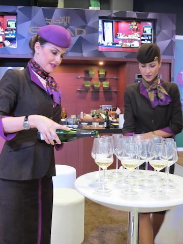 Charming business Class Alitalia Hostesses