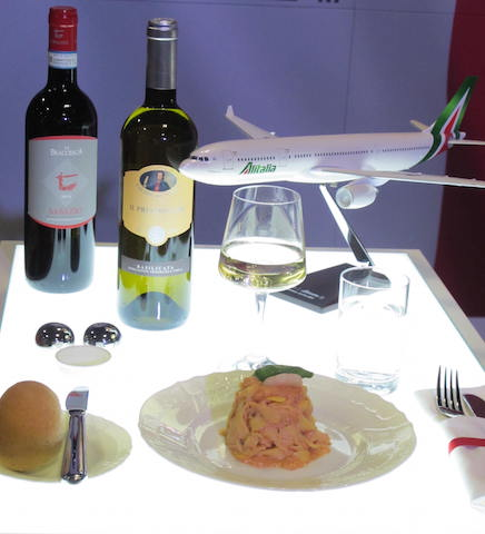 Flying Business Alitalia..