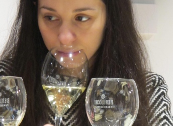 Tasting a Berlucchi Brut, one of the most recognized product of Franciacorta